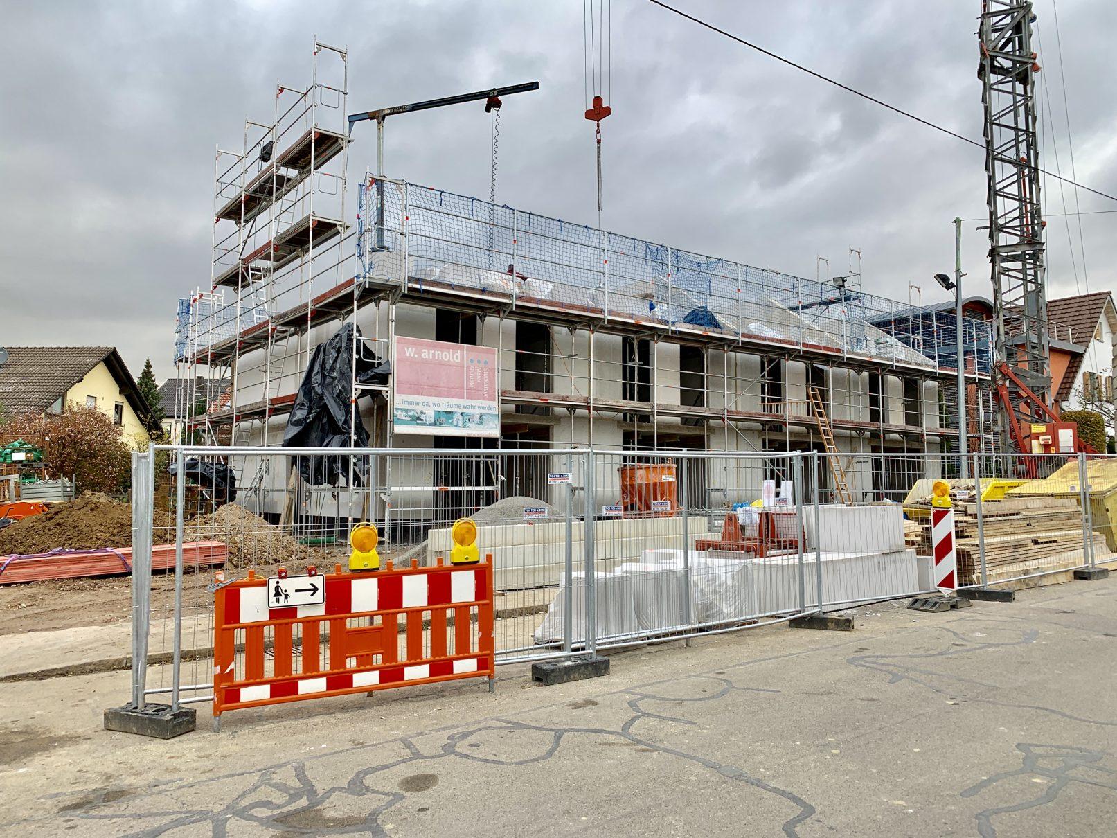 15.11.2019 - Die Obergeschossdecken wurden betoniert.